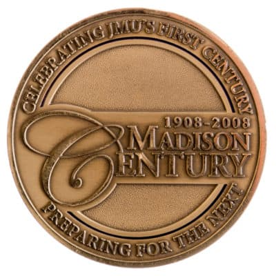James Madison University Medallion Back
