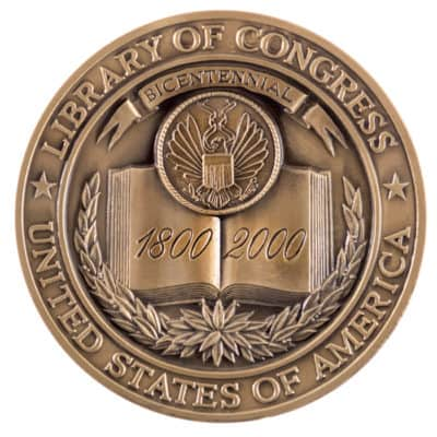 Library of Congress Bicentennial Medallion Back
