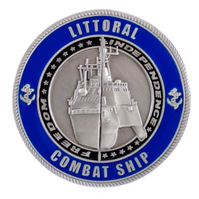 Littoral Combat Ship Challenge Coin Front