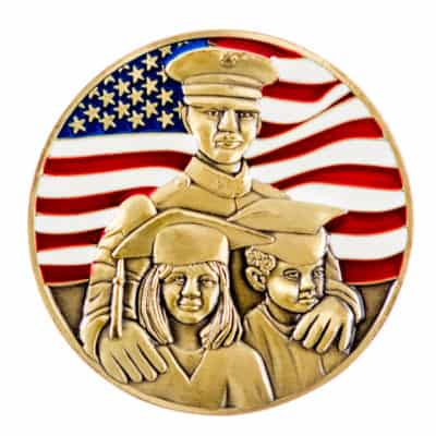 Marine Corps Law Enforcement Foundation Challenge Coin Back