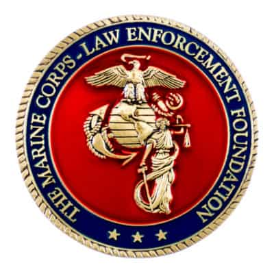 Marine Corps Law Enforcement Foundation Challenge Coin Front