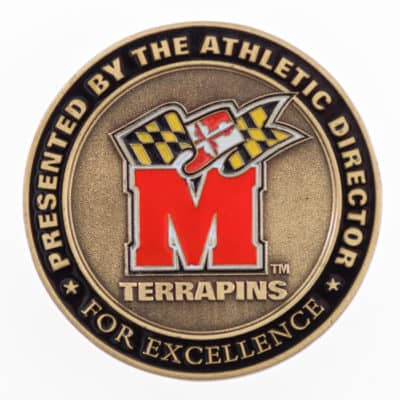 Maryland Challenge Coin Back