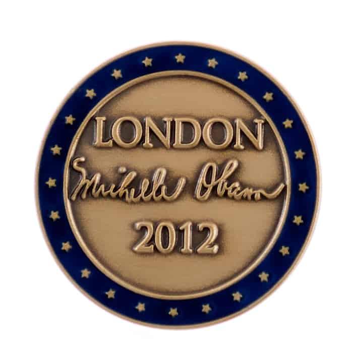 Michelle Obama London 2012 Lapel Pin