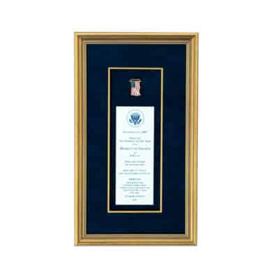 Moment of Silence Bush Lapel Pin Shadowbox