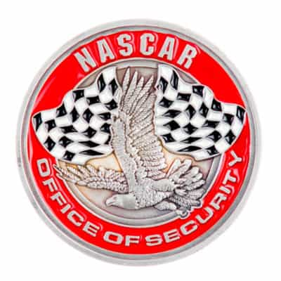 NASCAR Security Challenge Coin Back