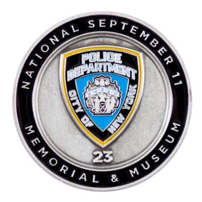NYPD 911 Memorial Museum Challenge Coin Front