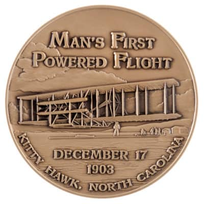 National Aeronautics and Space Administration First Flight Medallion Front