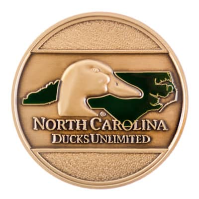 North Carolina Ducks Unlimited Challenge Coin Front