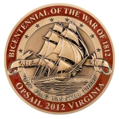 Opsail 2012 Virginia Medallion Front