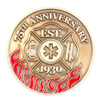 Potomac Maryland 75th Anniversary Challenge Coin Front