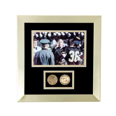 President Bush Coin Toss Army Navy Shadowbox