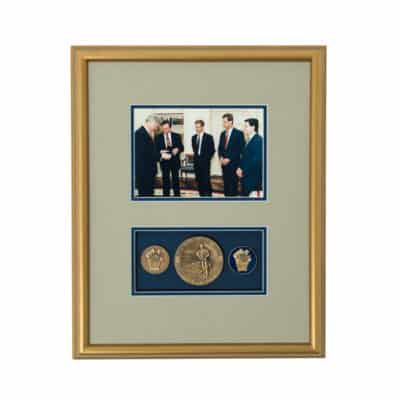 President Clinton CAT Medallion and Coin Shadowbox