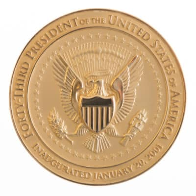 President George W Bush Gold Medallion Back