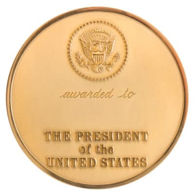 Presidential Environment and Conservation Challenge Award Medallion Back