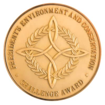 Presidential Environment and Conservation Challenge Award Medallion Front