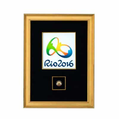 Rio 2016 Olympic Lapel Pin Shadowbox