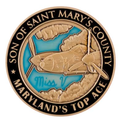 Saint Marys County Miss V Challenge Coin Front