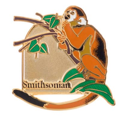 Smithsonian Monkey Lapel Pin