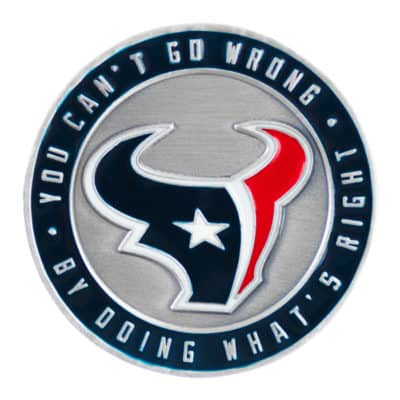 Texans Challenge Coin Back