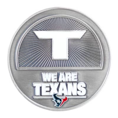 Texans Challenge Coin Front