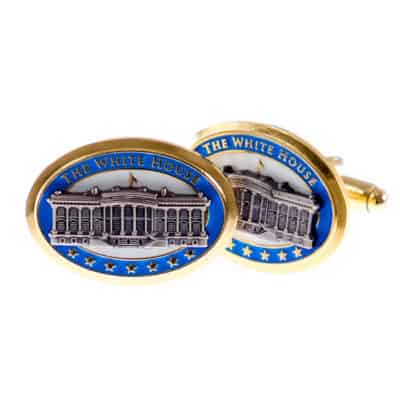 The White House Gold and Blue Cufflinks