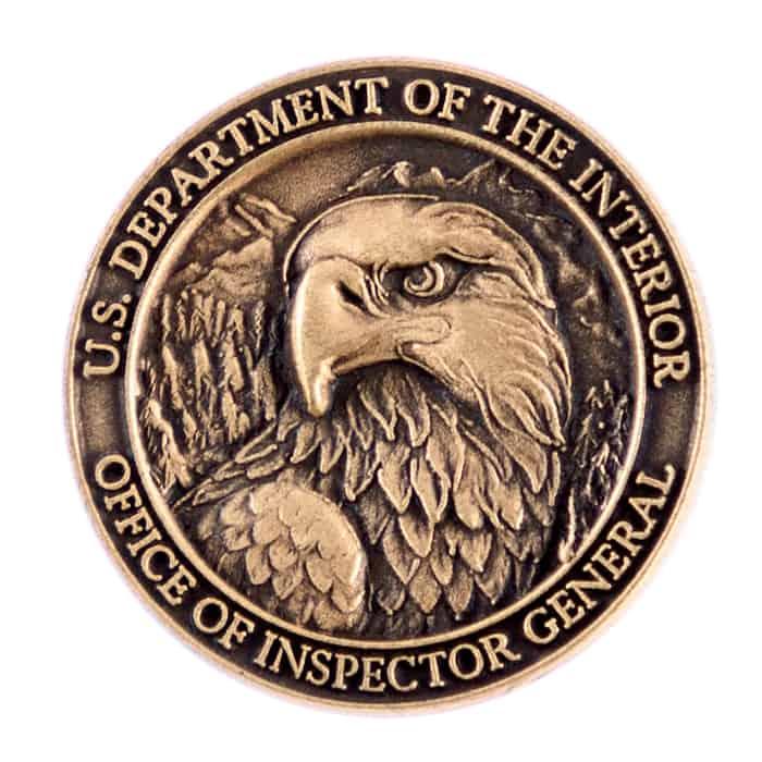 U.S. Department Of The Interior Lapel Pin