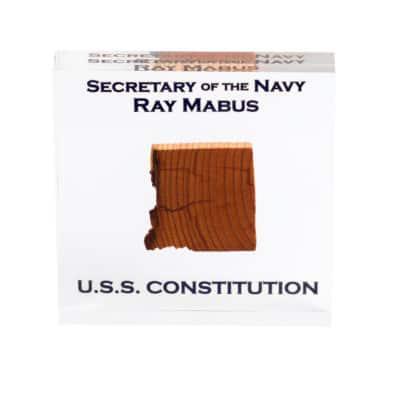 USS Constitution Lucite
