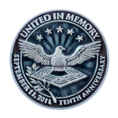 United In Memory 10th Anniversary Commemorative Lapel Pin