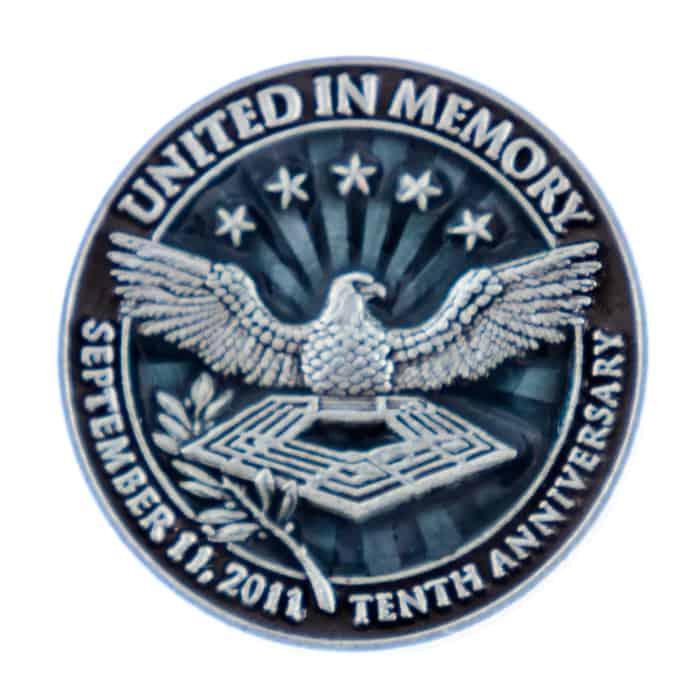 United In Memory 10th Anniversary Commemorative Lapel Pin