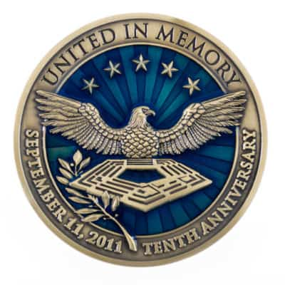 United In Memory Medallion Front
