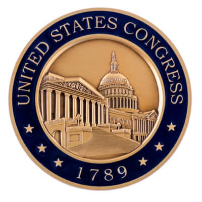 United States Congress 1789 Medallion