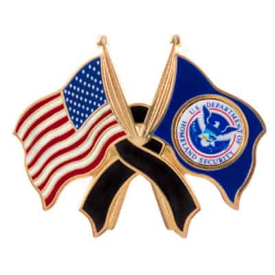 United States Department of Homeland Security Mourning Lapel Pin