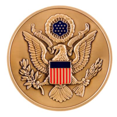 United States Secret Service Medallion Back