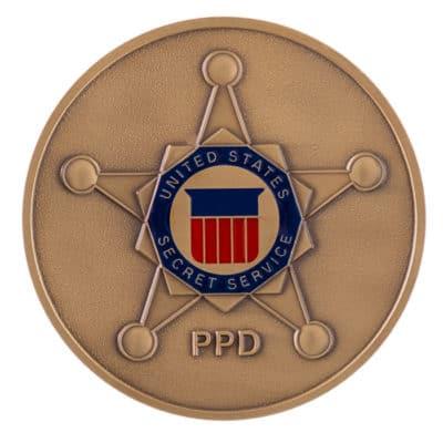 Medallion made for secret service