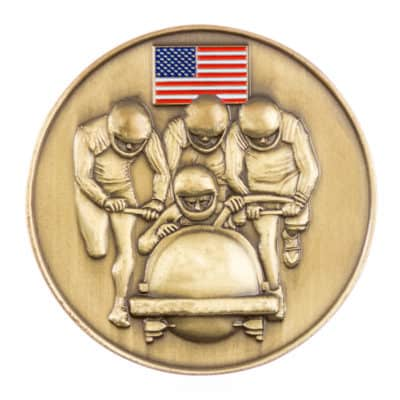 United Bobsled Association Challenge Coin Front