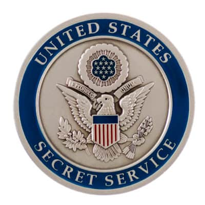United States Secret Service Intelligence Division Challenge Coin Back