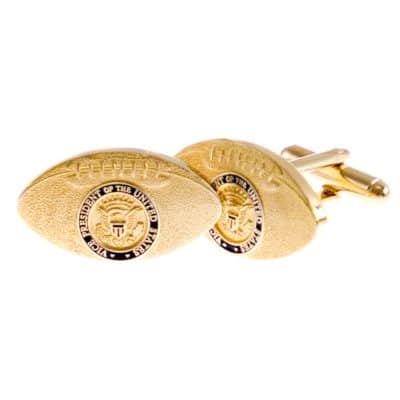 Vice Presidential Football Cufflinks