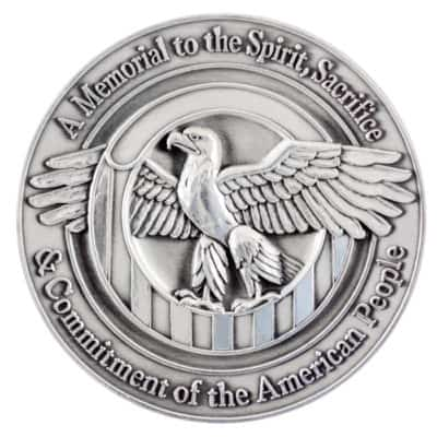 World War Two Memorial Medallion Back