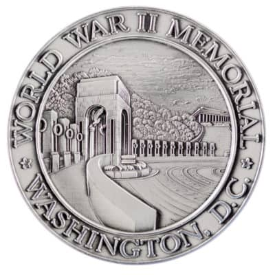 World War Two Memorial Medallion Front