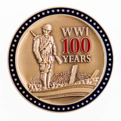 World War One Centennial Commission Challenge Coin Front