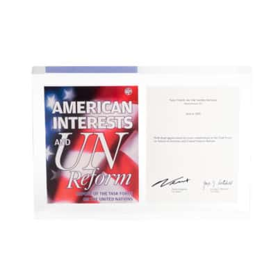 American Interests and UN Reform Commemorative Lucite