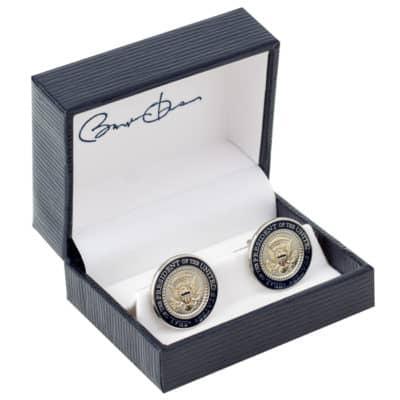 Barack Obama Presidential Cuff Links in Signature Box