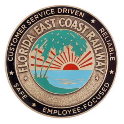 Florida East Coast Railway Medallion Front