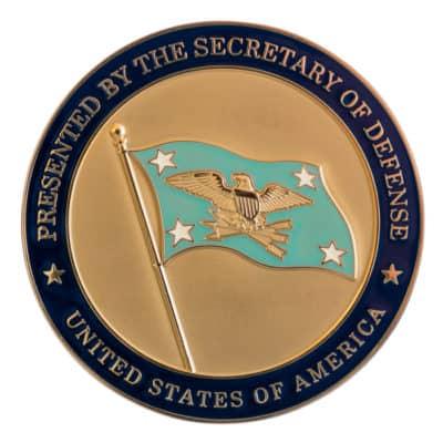 Secretary of Defense Gold Medallion Front