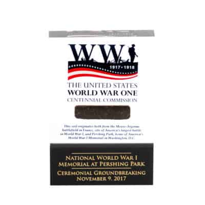 United States World War One Centennial Commission Commemorative Lucite