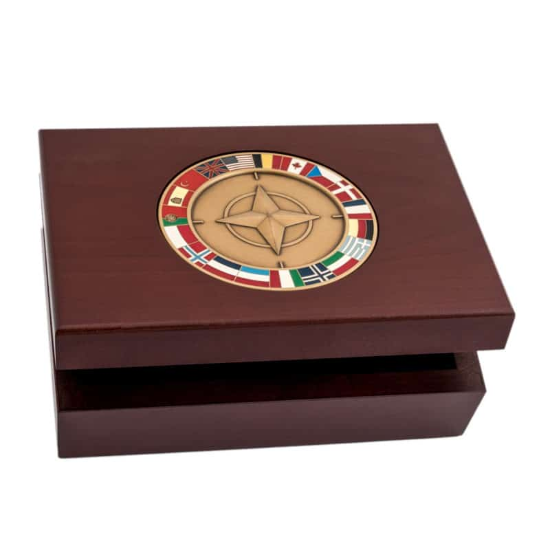 NATO Medallion Keepsake Box