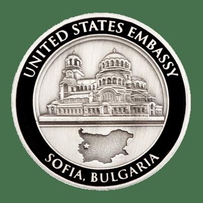 USE Sofia Bulgaria Ambassador Challenge Coin