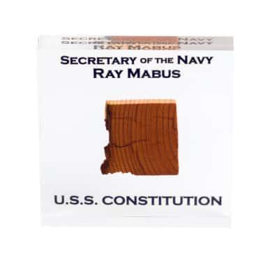 USS Constitution Lucite Piece