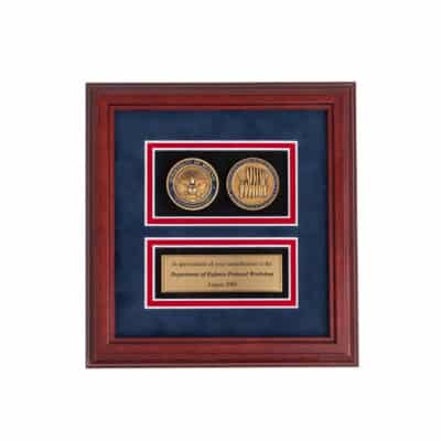 Department of Defense Protocol Coin Set Frame