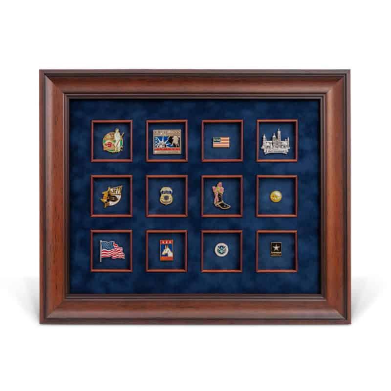 custom framed lapel pin shadowbox
